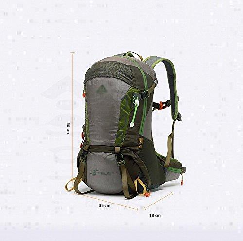 HWLXBB Outdoor Bergsteigen Paket Männer und Frauen 30L Wasserdichte Mehrzweck-Bergsteigen Tasche Wandern Camping Bergsteigen Rucksack 10*