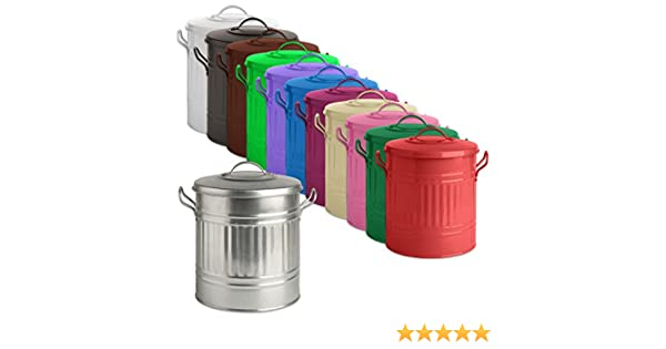 Tigerbox Green Powder Coated 15L Metal Feed Bin with Lid /& 300ml Scoop Ideal for Small Animal//Horse//Pet//Bird Seed//Food