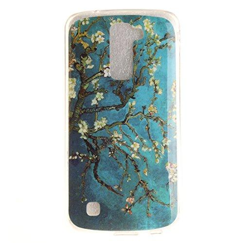 Coque Apple iphone 7 (4,7 pouces), Nancen Ultra Mince Etui Housse Couverture Souple TPU Silicone Case Coque de protection [Pissenlit] Prune fleur