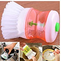 TOSSPER Kitchen Washing Utensils Pot Dish Brush With Washing Up Liquid Soap Dispenser Specialty Tools