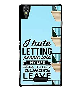 ifasho Designer Back Case Cover for Sony Xperia T3 (Sanction Someone Letting Lets )