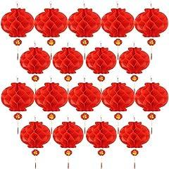 Idea Regalo - 20 Pezzi 10 Pollici Capodanno Cinese Lanterne di Carta Rosso Lanterne Cinesi da Appendere Decorazione