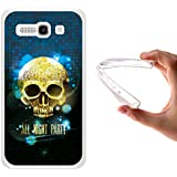 Funda Alcatel One Touch Pop C9, WoowCase [ Alcatel One Touch Pop C9 ] Funda Silicona Gel Flexible Calavera Brillante, Carcasa Case TPU Silicona - Transparente
