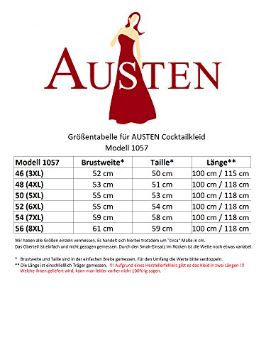 Austen - 1057 SOPHIA K, cocktail dell'abito 1 teilig vinaccia Mis, 44-56 rosso vivo