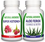 Super Ketone Plus (60 Capsules) & Aloe Ferox Cleanse & Detox (60 Capsules)(Bundle Deal) By Natural Answers