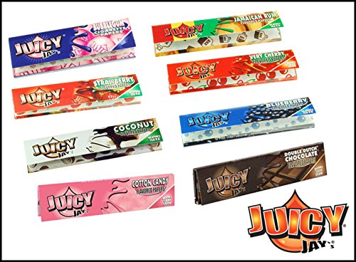 JUICY JAYS 5 confezioni da misto aromi Juicy Jay GRANDE CARTINE - Multicolore