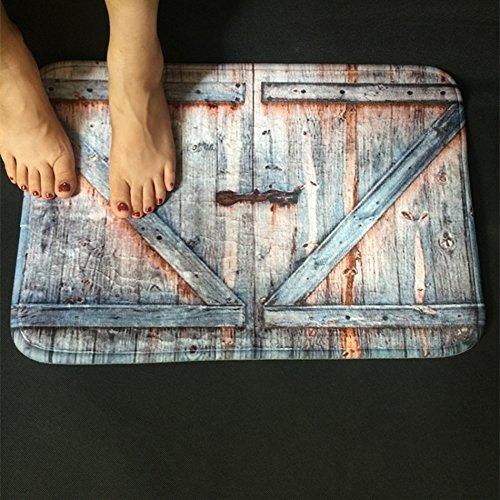 Badezimmer-dekor-teppich Rustikale (500x 800mm: American Country Style Polyester Duschvorhang Teppich Badteppich Old Bronze Holz Garage Vintage Rustikal Badezimmer Decor Art)