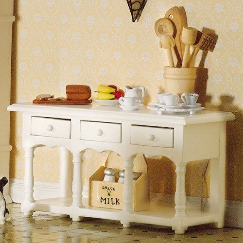 The Dolls House Emporium Victorian White Sideboard segunda mano  Se entrega en toda España