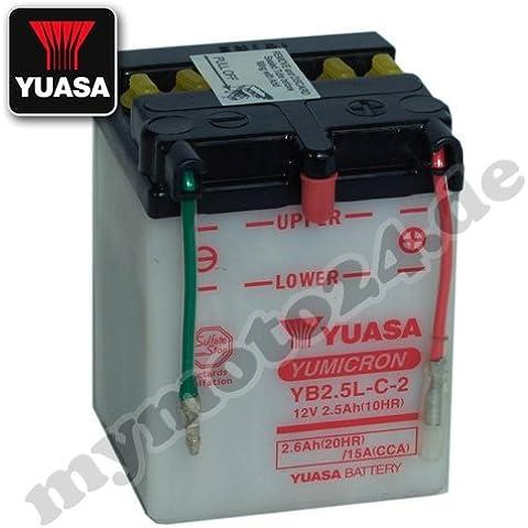 Batteria YUASA yb2.5l C, 12V/2,5ah (dimensioni: 81x 71x 106)