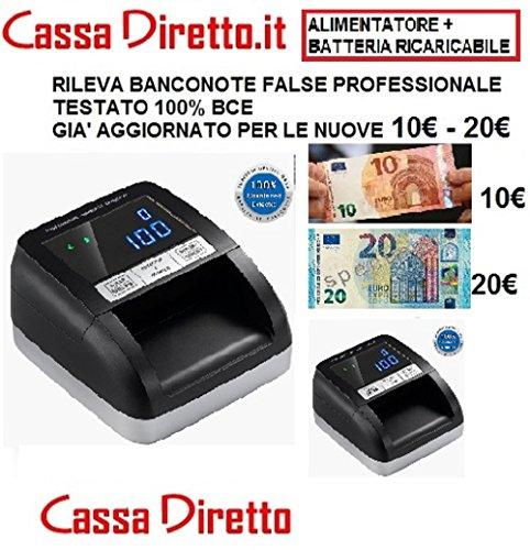CONTA VERIFICA RILEVA BANCONOTE FALSE TESTATO 100% BCE + BATTERIA AL LITIO AGGIORNATO 10 e 20 EURO NUOVE - CASSADIRETTO.IT -MOD.330B