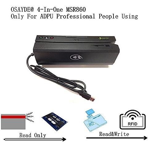 OSAYDE® MSR860 nuevo USB Sólo para usuarios profesionales de ADPU, NFC RFID IC tarjetas de crédito, tarjetas magnéticas, tarjetas de CPU, M1 Tarjetas de Proximidad, lector tarjetas SIM , escritor de tarjetas IC