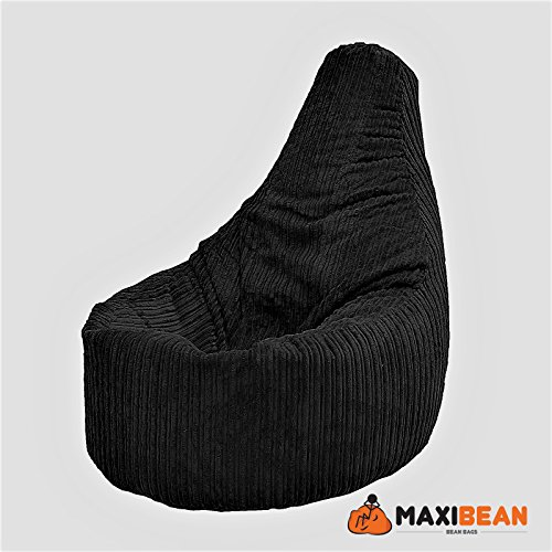 Sitzsack für Gamer, schwarzer Cord-Sessel, Stuhl für Erwachsene, Gaming-Sitzsack, Jumbo-Cordsessel...