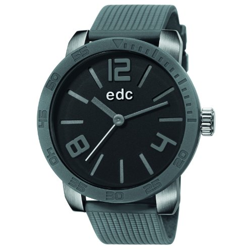 edc by esprit bold maverick ee101191005 - reloj analógico de cuarzo para hombre, correa de resina color gris