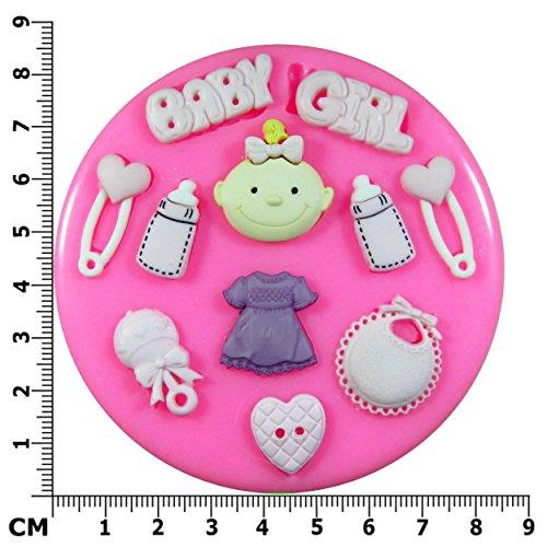 Mädchen Baby Silikon-Form für Kuchendeko, für Zuckerguss, zur Verzierung von Zuckerguss, Kuchen, Cupcakes, Werkzeug von Fairie Blessings