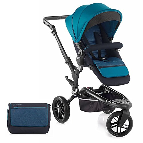 Für Jane Trider Kinderwagen Off Roader All Terrain Kinderwagen mit passendem Zubehör Blaugrün
