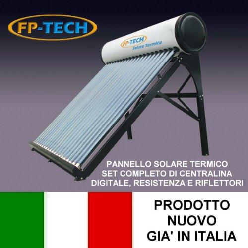 PANNELLO SOLARE TERMICO HEAT PIPE PRESSURIZZATO ACCIAIO INOX ACQUA...