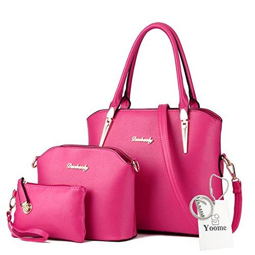Borse a tracolla Yoome Crossbody borsa a tracolla borsa borsa borsa da trucco borse da trucco borse casual - rosa Rosa