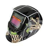 Rosepoem Solar Auto Dimmen Maske Schweißmaske Schweißhelme, Maske Auto Verdunkelung Schutzmaske für Schweißer - Black Ghost Claw