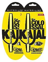 Maybelline New York Colossal Kajal, 0.35g (Pack of 2)