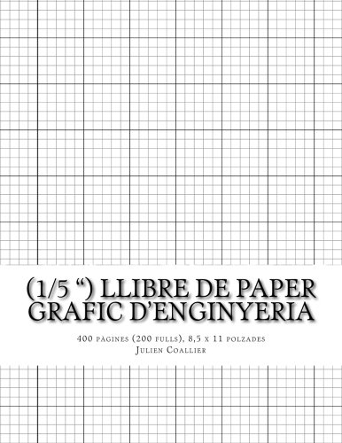 (1/5) Llibre de Paper Grafic d'Enginyeria: 400 pagines (200 fulls), 8,5 x 11 polzades por Julien Coallier