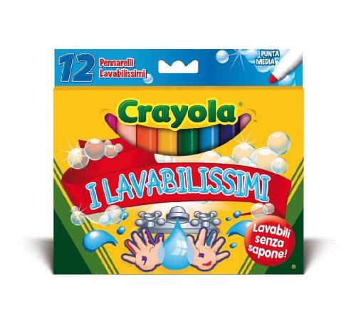 Crayola - 12 colori fibra i lavabilissimi