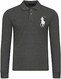 Ralph Lauren - Polo - Avec boutons - Uni - Col Chemise Classique - Homme