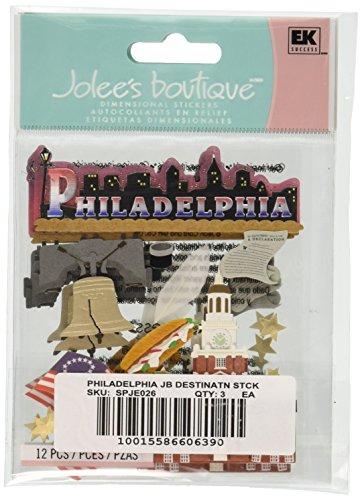 Jolee S Boutique Dimensional Stickers (Jolee 's Boutique Philadelphia Destination Aufkleber)
