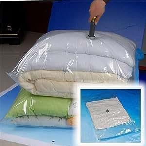 10pc Compress Compression Saving Space Vacuum Storage Seal Plastic Bag 70x50cm