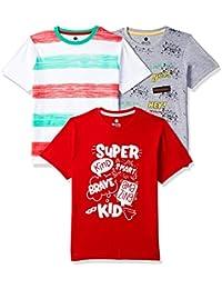 Cloth Theory Boy's Plain Regular fit T-Shirt (Pack of 3)