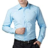 Being Fab Men's Solid 100% Cotton Regular Fit Casual Black Shirt