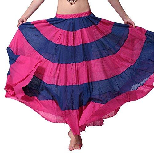 Donne Danzawea Danza del ventre Gonne Swing Tiered Danza Costumes Maxi Gonne Danza Clothes Full Circle Gonne