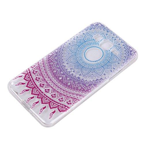 Qiaogle Telefon Case - Weiche TPU Case Silikon Schutzhülle Cover für Apple iPhone 7 (4.7 Zoll) - DD04 / Grün Blume DD12 / Dazzle Blume