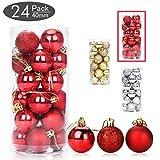 Aitsite Weihnachtskugeln 4 cm Weihnachtsbaum Kugeln Christbaumkugeln Flitter Tür Wandbehang Ornamente Dekorationen Festival Dekore