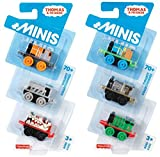 Thomas and Friends Minis Pack of 6/8 or Carry Case with 2 Trains - Brilliant Stocking Filler Thomas The Tank Engine Toys (6 pack)