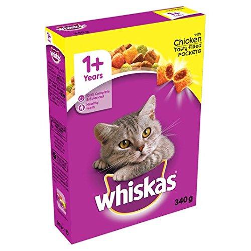 Whiskas 1+ Katze Komplettes Trocknen mit Huhn 340g -