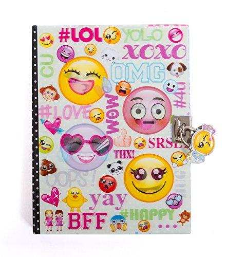 Hot Focus Emoji diario con lucchetto e chiavi