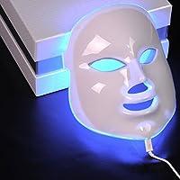 Genius Factory® Maschera con luce fotonica a LED da 7 colori, per il ringiovanimento facciale, utile come terapia di