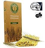 Healthtastic ® Kompostierbare Einweg Strohhalme aus Stroh 100 STÜCK - Umweltfreundliche Bio Trink Halme 100% biologisch abbaubar