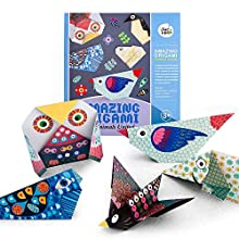 Sunerly Colorful Kids Origami Kit Amazing Origami, 28 Double Sided Vivid Origami Papers Instructional Book Craft Activity Set for Kids Adults Beginners Trainning and School Craft Lessons (Animal)