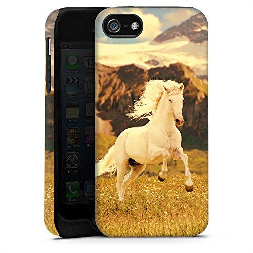 Apple iPhone X Silikon Hülle Case Schutzhülle Weißes Pferd Hengst Mustang Stute Tough Case matt