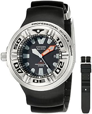 Citizen  BJ8050-08E - Reloj de cuarzo para hombre, con correa de plástico, color negro