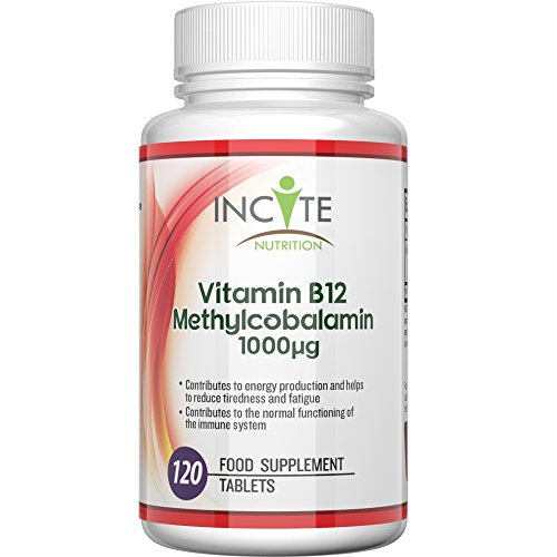 Vitamin B12 Methylcobalamin High Strength 1000 MCG Supplement MONEY BACK GUARANTEE Buy 2 & get FREE DELIVERY 120 Tablets (4 Month Supply) - Small 6mm Pills not Capsules or Nuggets - Suitable for Vegan and Vegetarian Natural Benefits - Best Supplements for B12 Deficiency Source of Vit B 12 Vitamins Manufactured in the UK Test