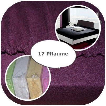 #2 4myBaby GmbH Jersey Spannbettlaken, Spannbetttuch, Bettlaken, 70x160 cm, Pflaume