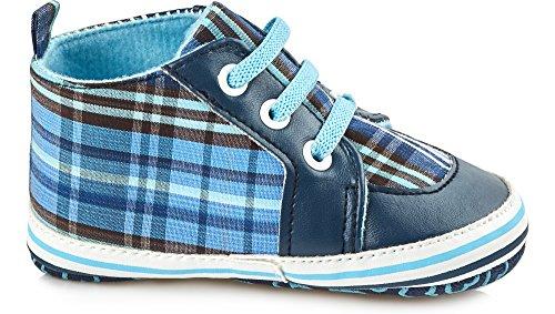 Bobobaby Bébé Chaussons Chaussures pour Bébés ZB-111 Bleu