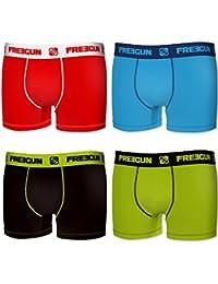 Lot de 4 Boxers Freegun Homme Coton Uni