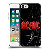 Head Case Designs Offizielle AC/DC ACDC Rot Logo Soft Gel Hülle für Apple iPhone 7 / iPhone 8