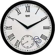 Ajanta Plastic Sweep Clock (36 cm x 36 cm x 4.5 cm, Brown)