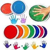 HCFKJ Farben DIY Stempelkissen Stempel Finger Malerei Handwerk Cardmaking Große Runde Für Kinder (MUL)