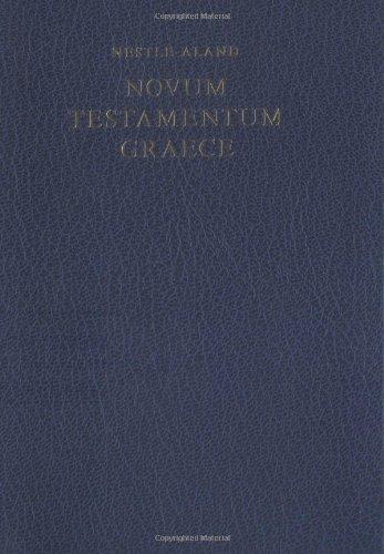 Novum Testamentum Graece par Nestle