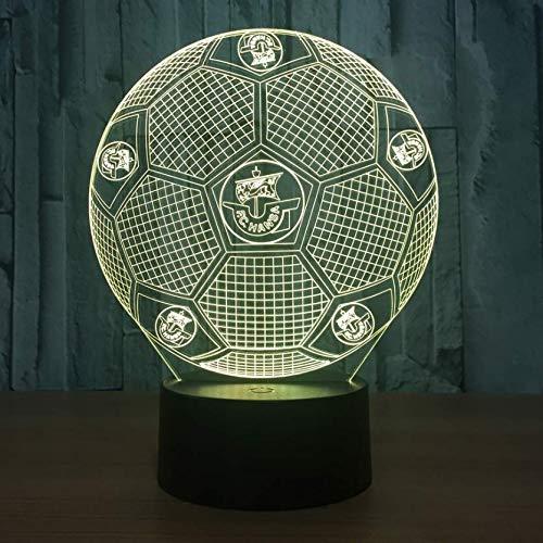 Cadeaux D'Anniversaire Pour Enfants Lumières 3D Real Madrid Football Touche Colorée Touch Lampe De Table Cadeau Night Night 3D Lecture Led Light, G